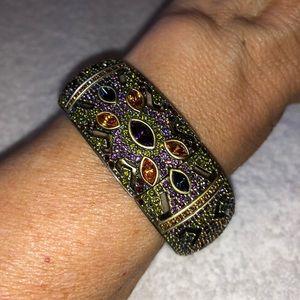 Heidi Daus Swarovski Crystal Bangle Bracelet Watch